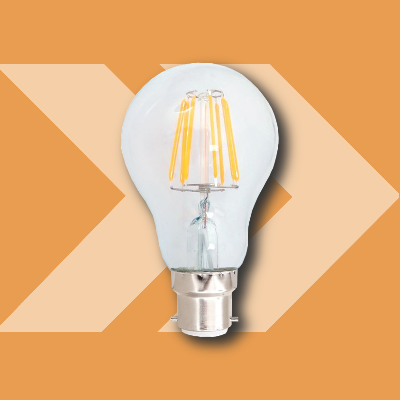 LED BC GLS Clear Dimmable 7W 2700k